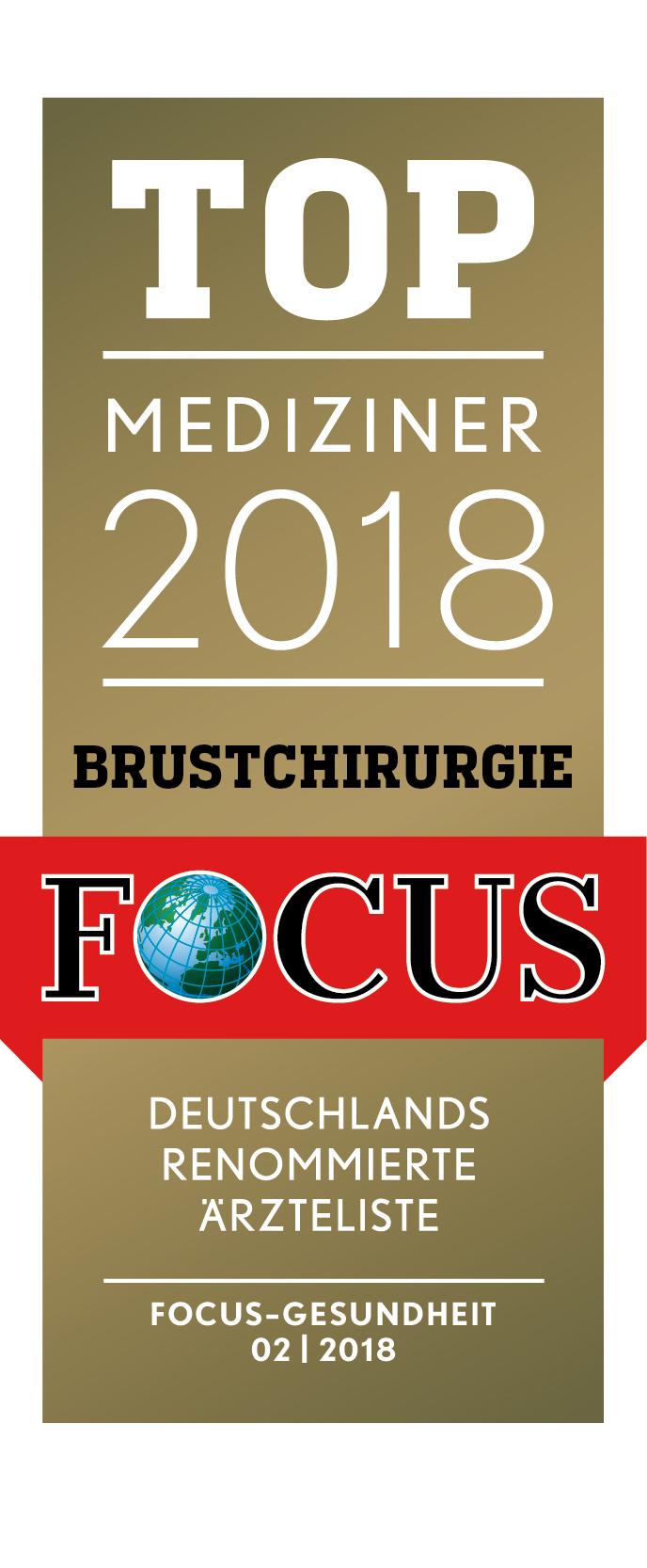 FOCUS Topmediziner Brustchirurgie 2018