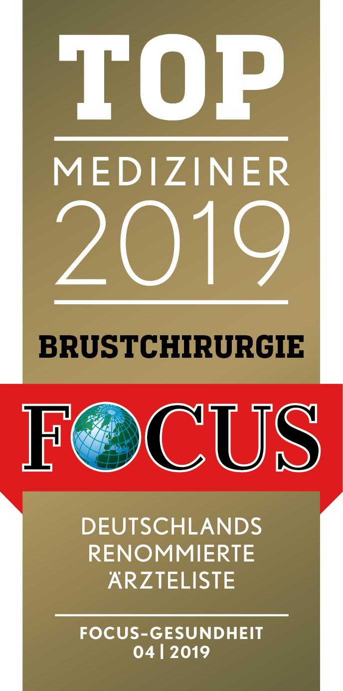 FOCUS Topmediziner Brustchirurgie 2019